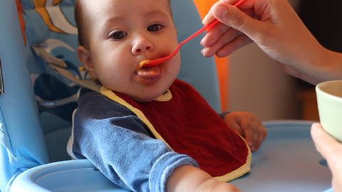 Little Baby Meal Time stock footage