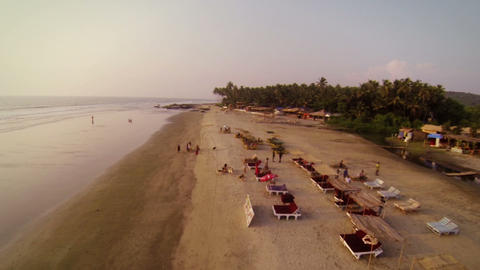 Goa Beach stock footage