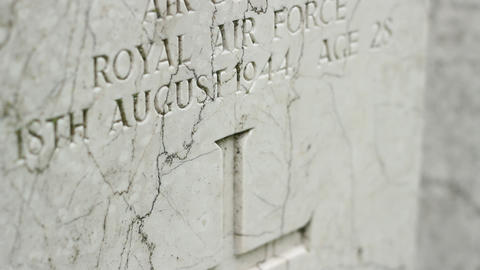 RAF Pilot Tombstone Footage