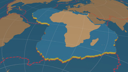 African tectonic plate. Solids Animation