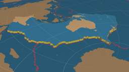 Australian tectonic plate. Solids Animation