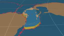 Caribbean tectonic plate. Solids Animation