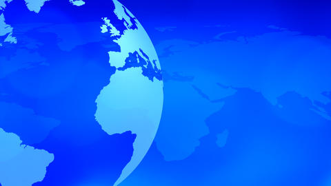 Blue World Globe And Map stock footage