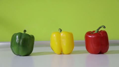 Peppers In The Kitchen stock footage
