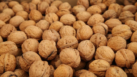 Walnuts, close up, dolly shot Footage
