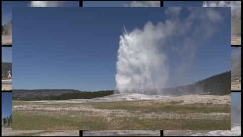 Multi Geyser stock footage