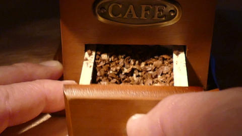 Box With Ground Coffee stock footage