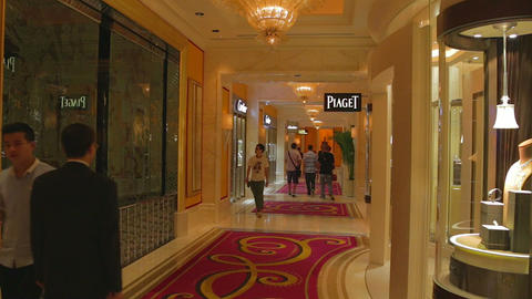3 angles - Wynn hotel Macau exterior interior and  Footage