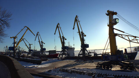 Vyborg Port. 4K stock footage