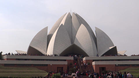 Lotus Temple Or Bahai House Of Worship, New Delhi stock footage