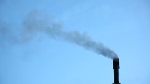 Smoke From Chimney stock footage