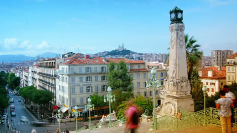 View From The Main Straircase Of The Central Railway Station Marseille, France,t stock footage
