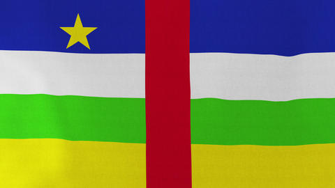 4K Loopable: Flag of Central African Republic Footage