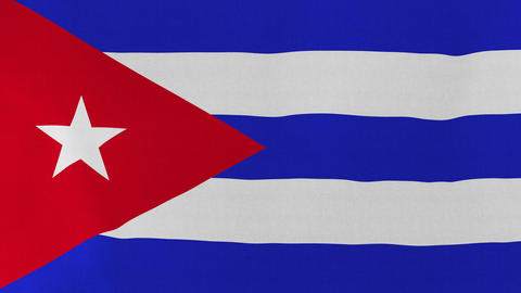 4K Loopable: Flag of Cuba Footage