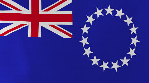 4K Loopable: Flag Of Cook Islands stock footage