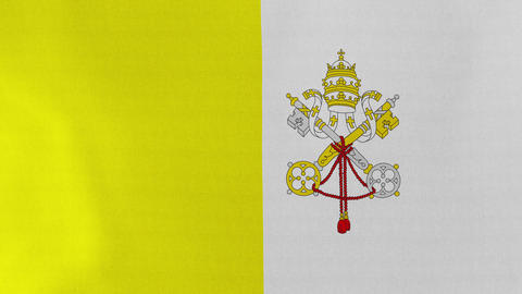 4K Loopable: Flag of Vatican City State Footage