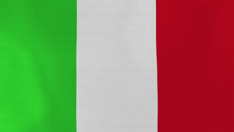 4K Loopable: Flag Of Italy stock footage