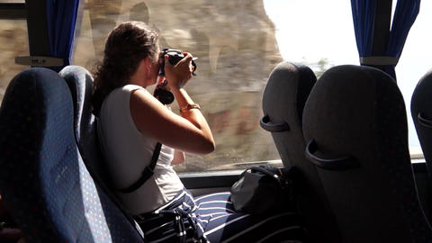 Scenes From A Bus Ride Along The Amalfi Coast (3 Of 4) stock footage