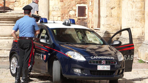 Views Of A Italian Police (3 Of 3) stock footage