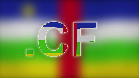 4K CF - Internet Domain Of Central African Republic stock footage
