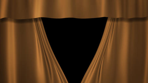 Champagne Gold curtains stage Animation