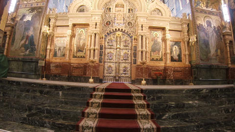 The interiors of Church of the Savior on Spilled Blood Footage