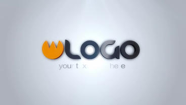 Soft Clean 3 D Logo Intro stock footage