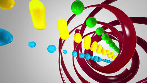 Colored Cubes At White Background stock footage