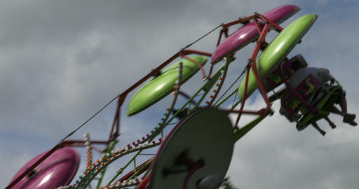 Spinning Wheel At Amusement Park stock footage