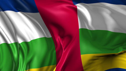 Flag Of Central African Republic stock footage