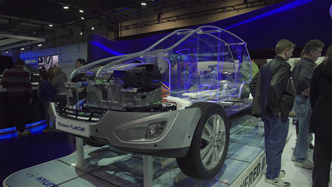 2015 Hyundai Tucson Fuel Cell In 4K UHD stock footage