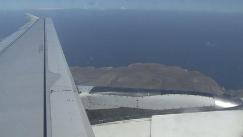 Flight. Rhodes with aircraft Footage