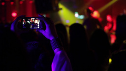 Man Shooting A Music Concert Disco 01 stock footage