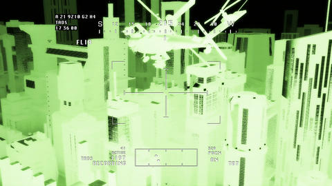 Apaches in City 09 nightvision apache monitor Animation