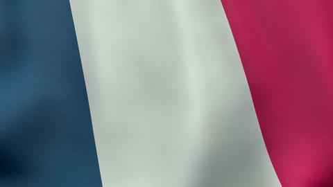 4K UltraHD Loopable Waving French Flag Animation stock footage
