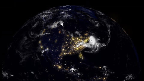 Hurricane Planet East Coast / New York / Boston / USA stock footage