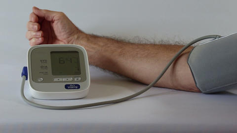 Recording Blood Pressure stock footage