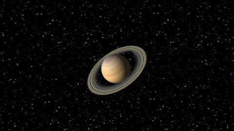 Digital Animation Of The Planet Saturn stock footage