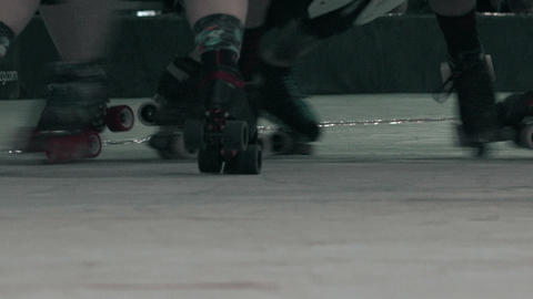 Roller Skates Closeup - Battle Royale stock footage