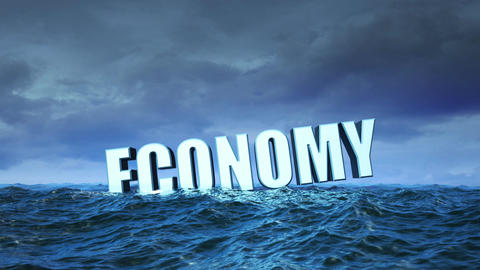 Economy Crisis (with Cloudy Sky) stock footage