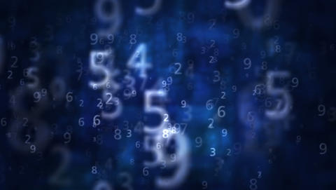 2K Numbers Blue Background 1 stock footage