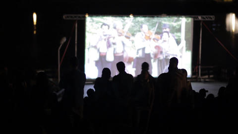 Outdoor cinema Footage