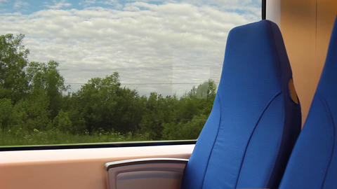 View From The Window Of A Passenger Train stock footage