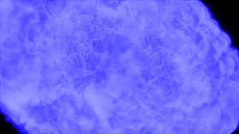 Blue Explosion With Alpha Channel stock footage