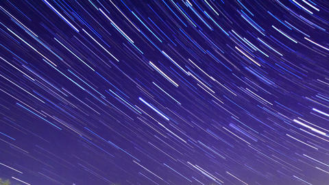 Star Trails. Time Lapse. 1280x720 Footage