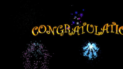 Congratulations (with Fireworks) stock footage
