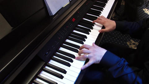 Pianist 2a stock footage