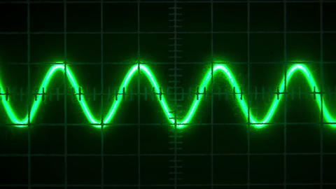 Old Oscilloscope stock footage