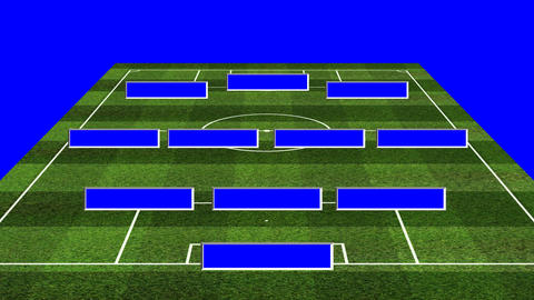 3D BS Football Lineup 343 Animation