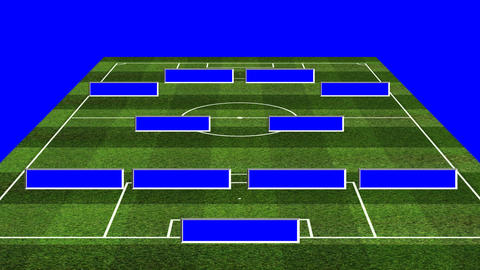 3D BS Football Lineup 424 stock footage